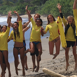 Lifeguard training in Nosara Costa Rica