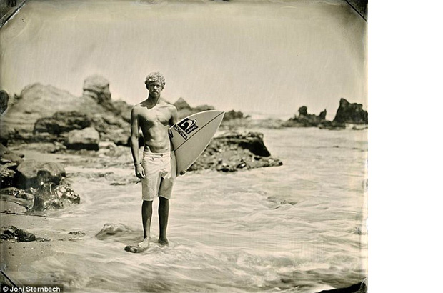 John John Florence wet plate portrait by Joni Sternbach for Surf Site Tin Type