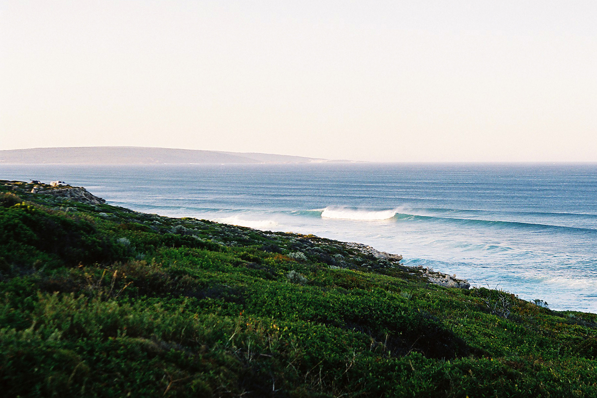 Morning surf fanned by offshore winds in western australia