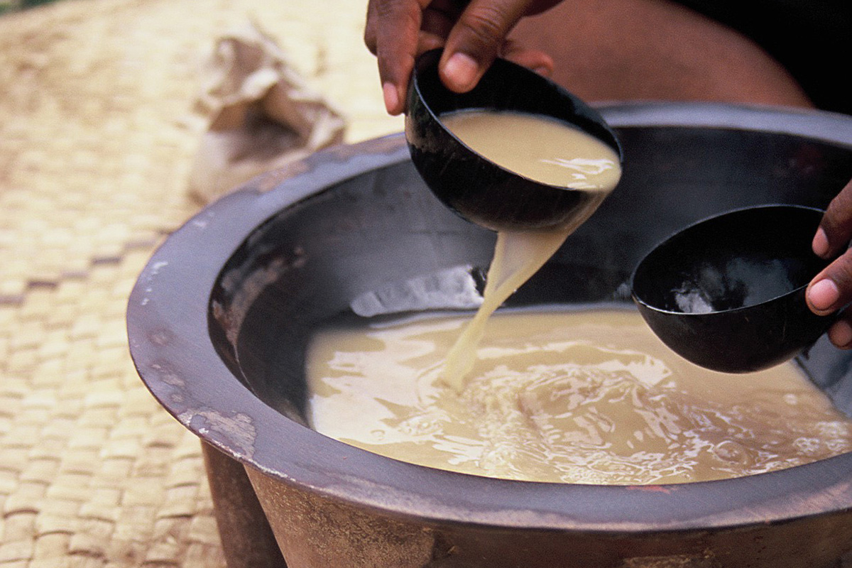serving kava in a traditional ceremony in fiji