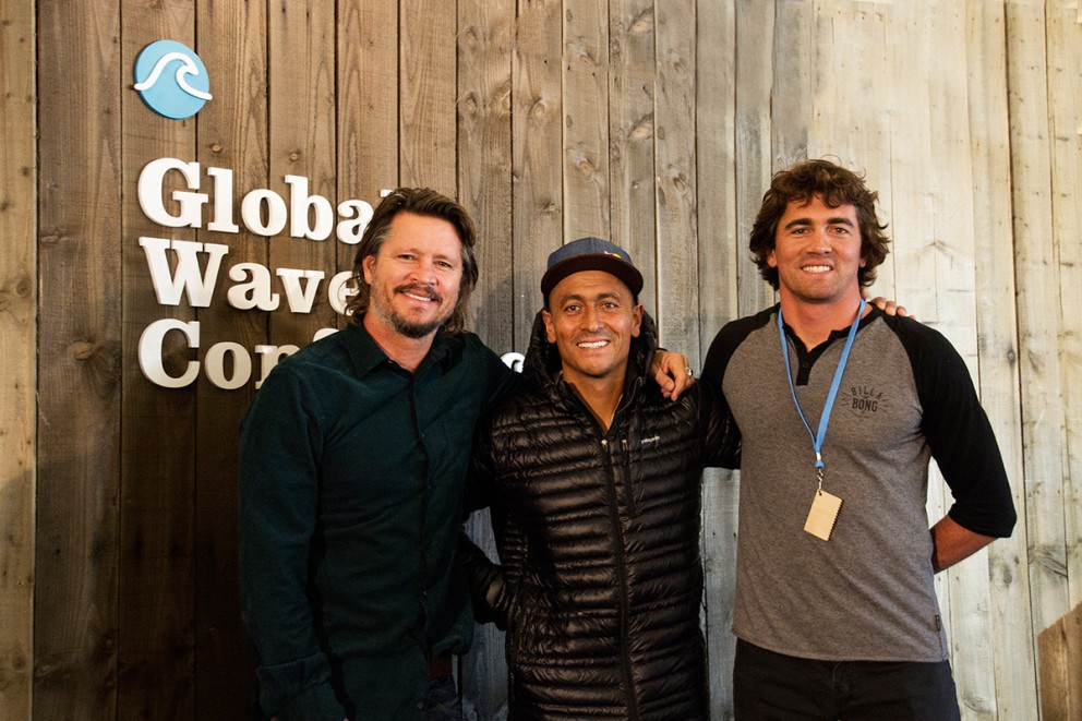 brad gerlach, ramon navarro and greg long at the 2015 global wave conference