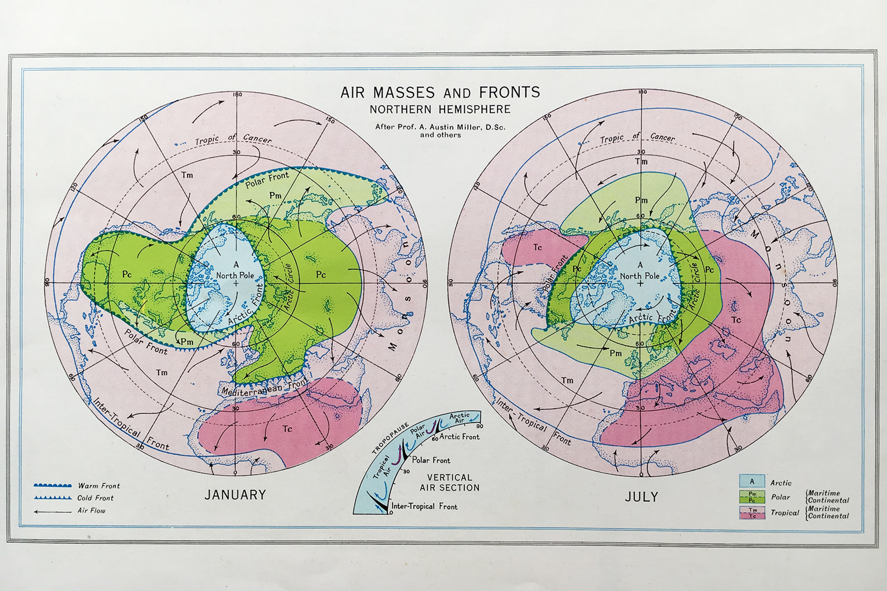air masses and fronts in the northern hemisphere