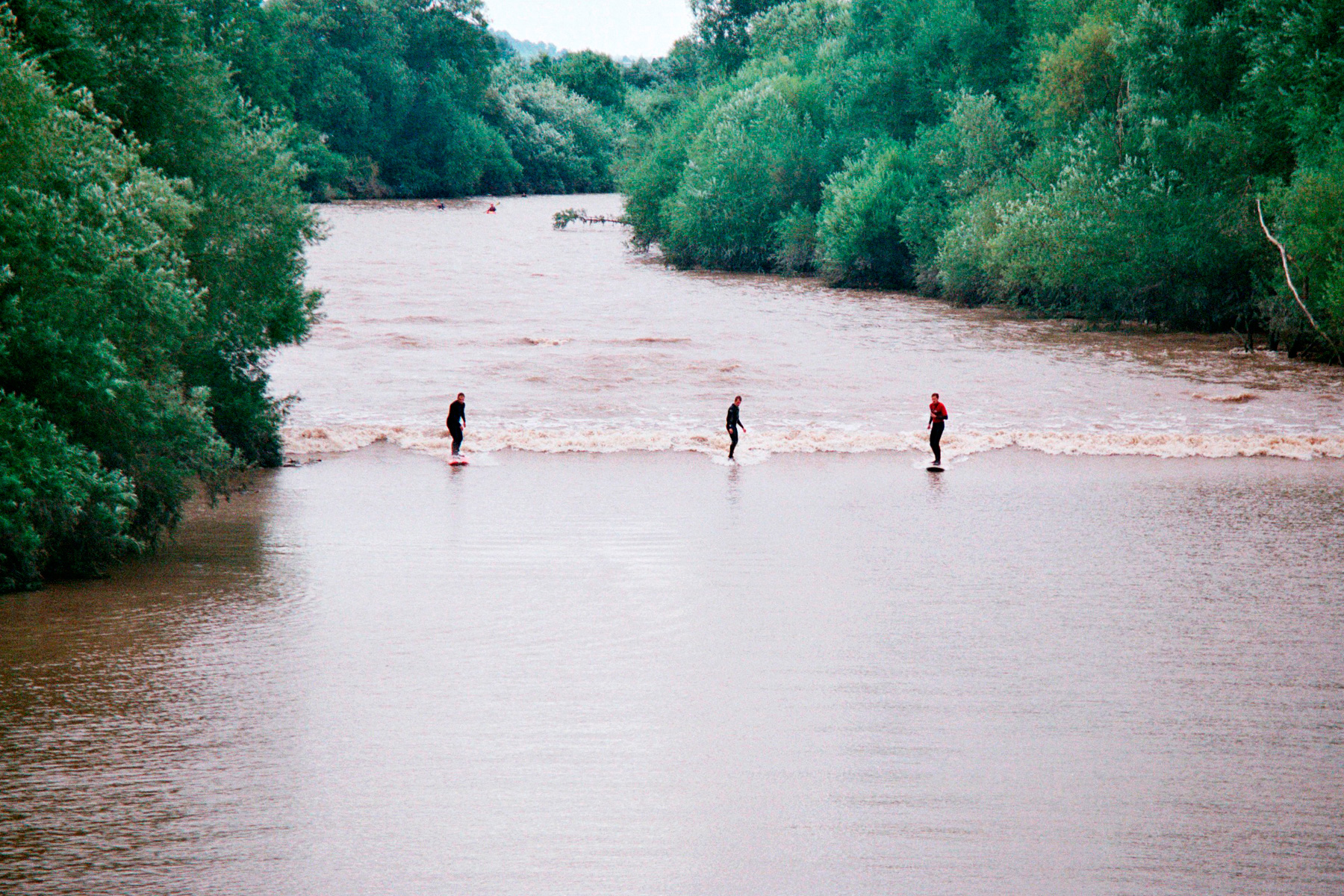 surfing on the severn bore in gloucestershire