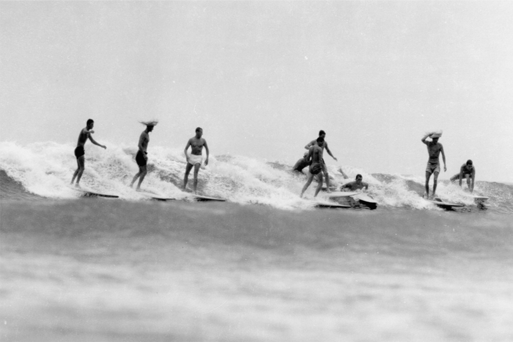 surfers at yallingup, western australia, in the 1960s